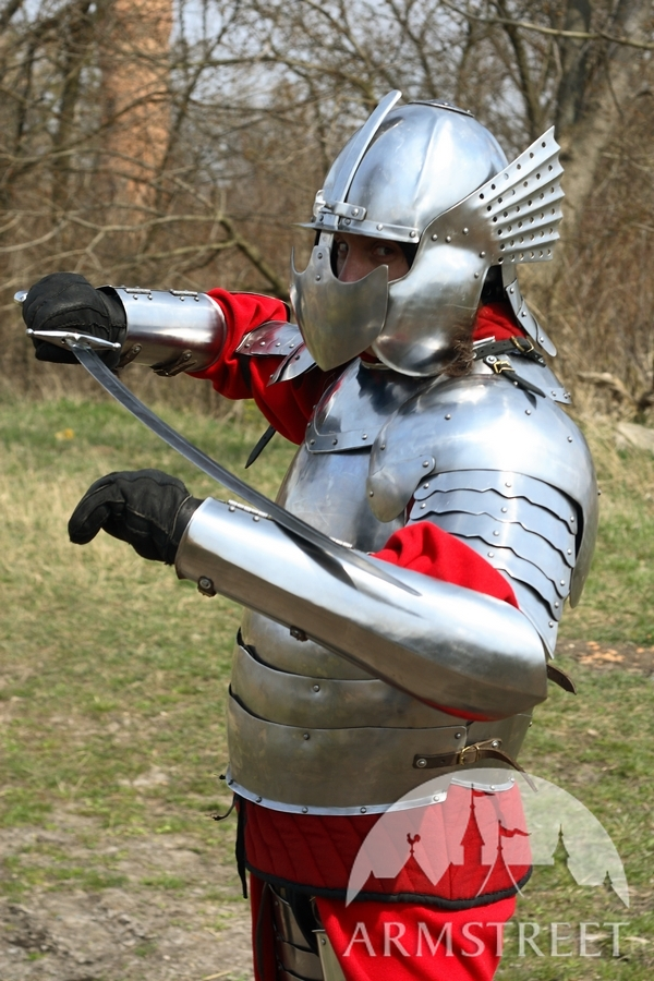 polaco Hussard las El arnés histórico de placas Knight lF1KJc
