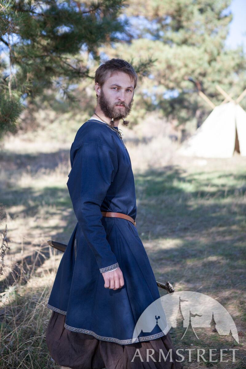 Échelle 1//6th Marx Noir Viking fourrure tunique une ceinture et jupe