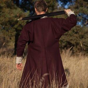 Kaftan de laine, manteau viking « Bjorn le Guerrier » à